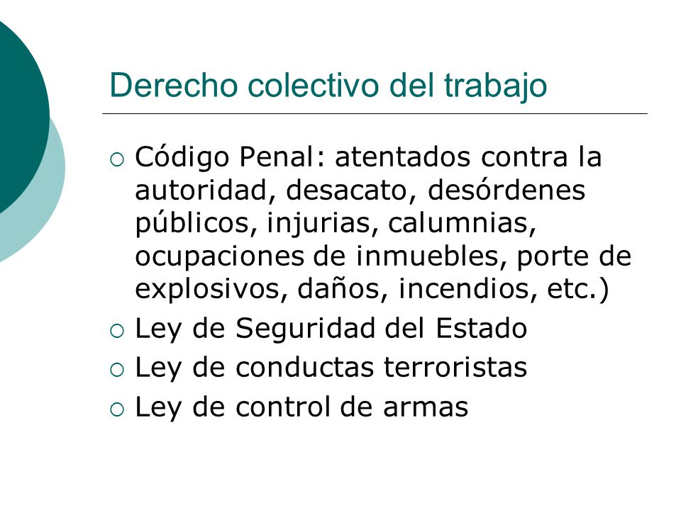 Derecho penal y derecho del trabajo i ppt descargar for Porte y trafico de estupefacientes codigo penal