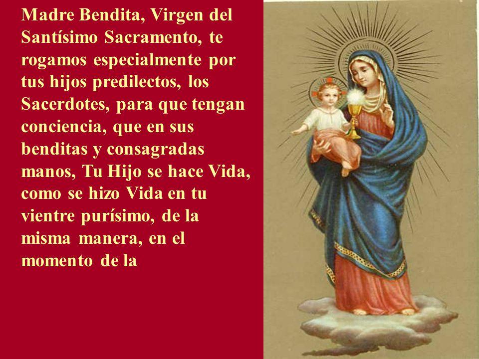 Resultado de imagen para Oración a la Santísima Virgen por los sacerdotes