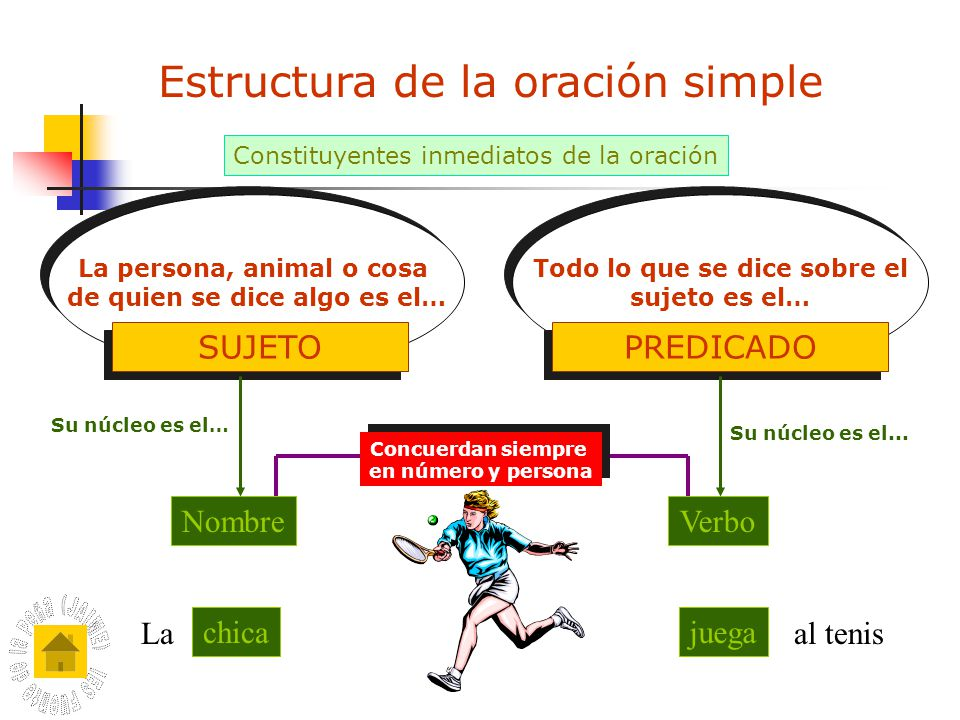 Estructura de la oración simple