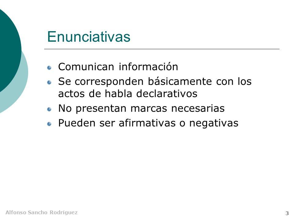 Enunciativas Comunican información