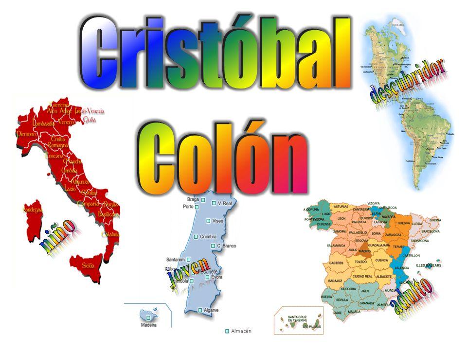 Cristóbal Colón descubridor niño joven adulto