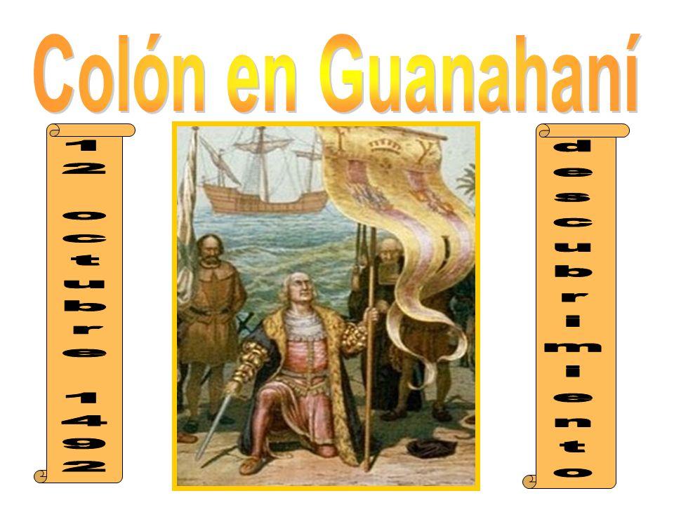 Colón en Guanahaní 12 octubre 1492 descubrimiento