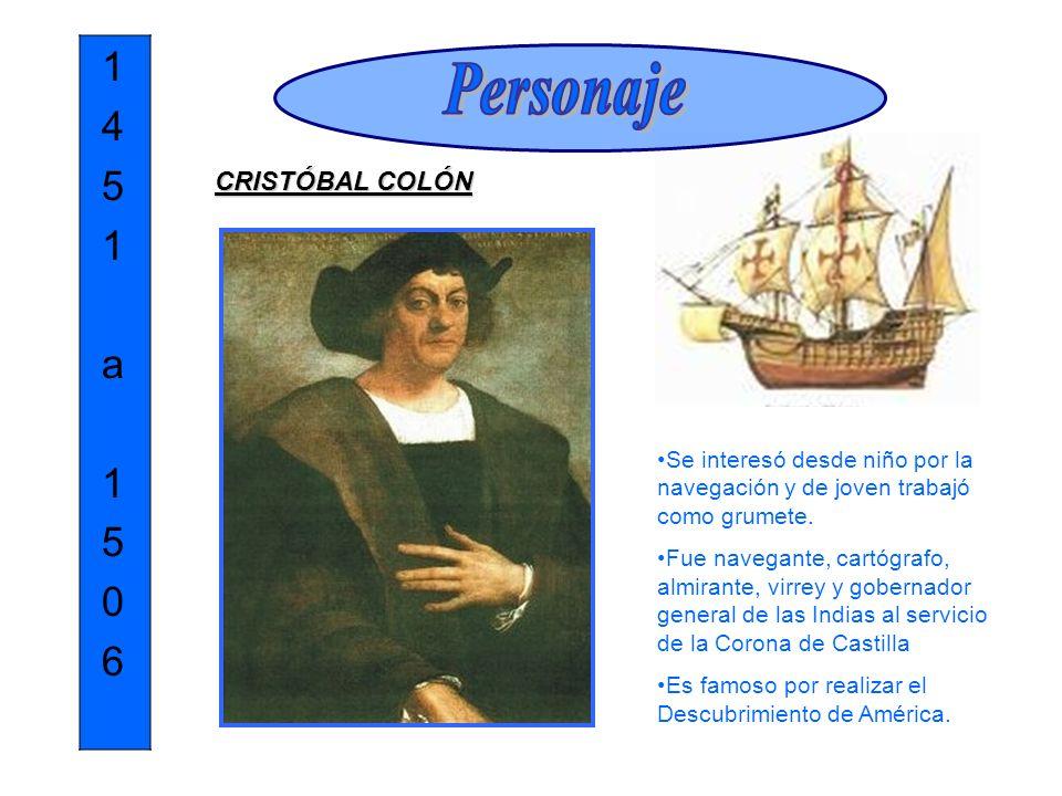 Personaje 1 4 5 a 6 CRISTÓBAL COLÓN