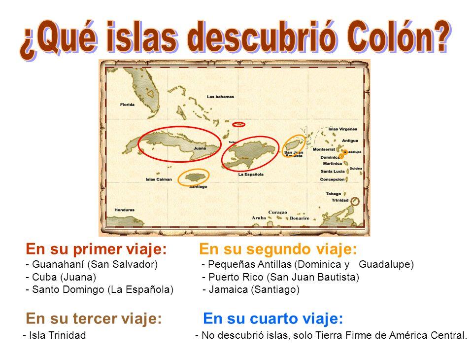 ¿Qué islas descubrió Colón