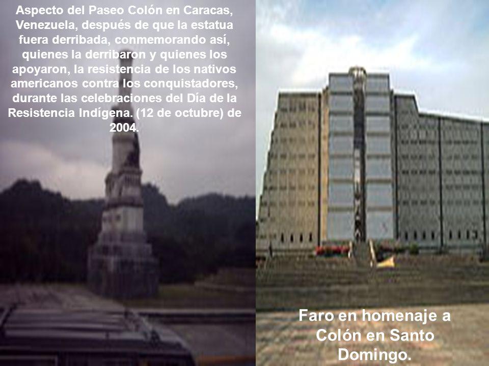 Faro en homenaje a Colón en Santo Domingo.
