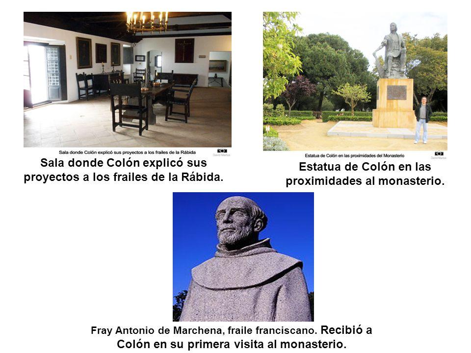 Sala donde Colón explicó sus proyectos a los frailes de la Rábida.