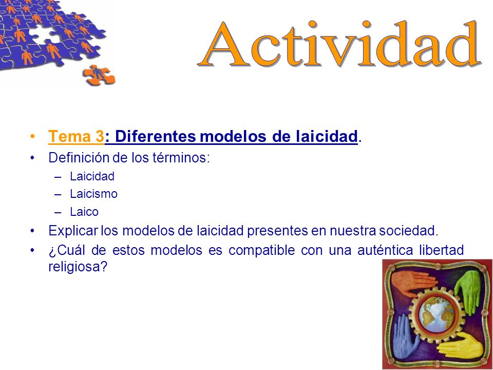 Actividad Tema 3: Diferentes modelos de laicidad.