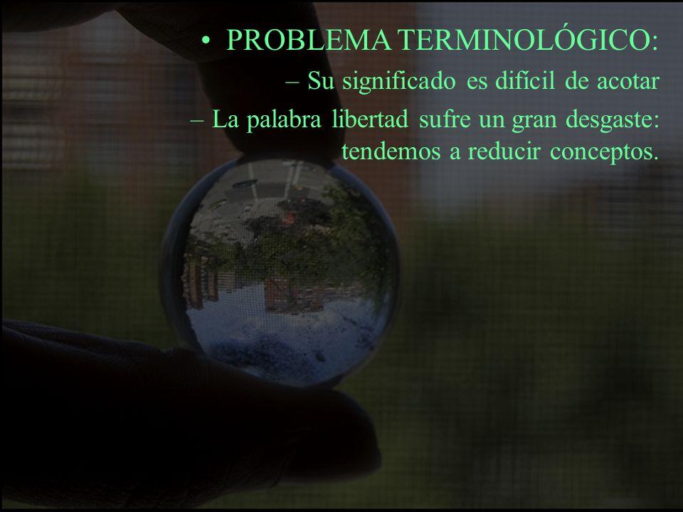 PROBLEMA TERMINOLÓGICO: