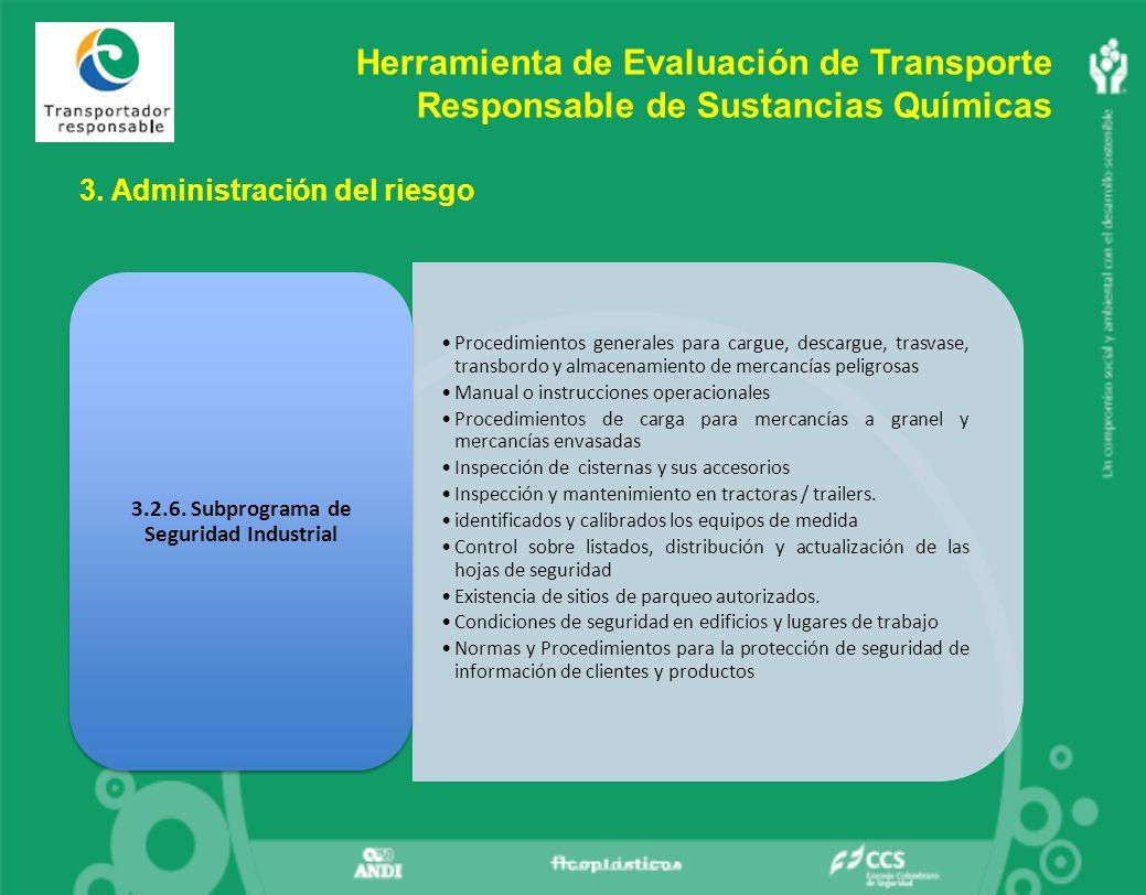 3.2.6. Subprograma de Seguridad Industrial