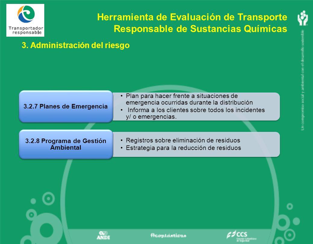 3.2.8 Programa de Gestión Ambiental