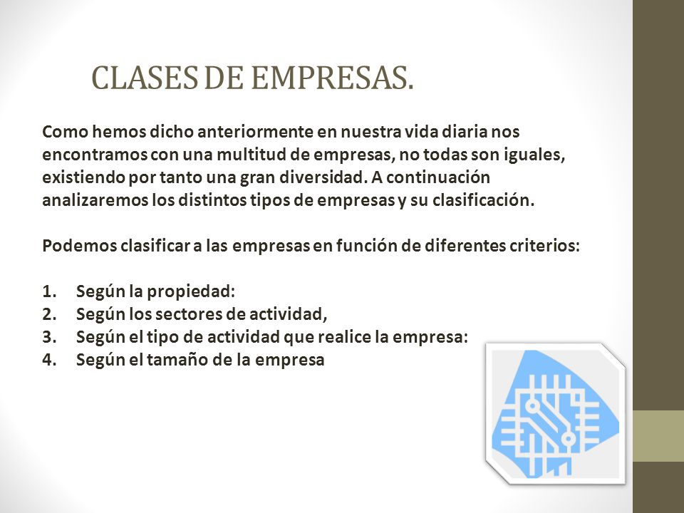 CLASES DE EMPRESAS.
