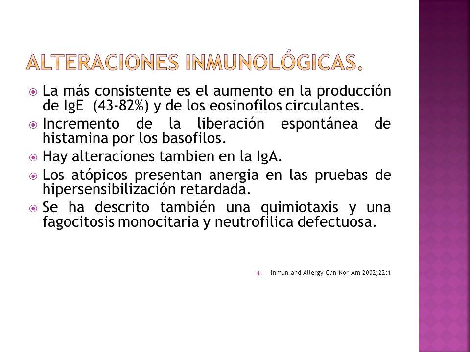 ALTERACIONES INMUNOLÓGICAS.