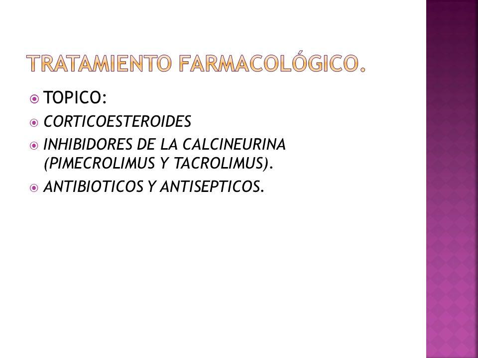 TRATAMIENTO FARMACOLÓGICO.