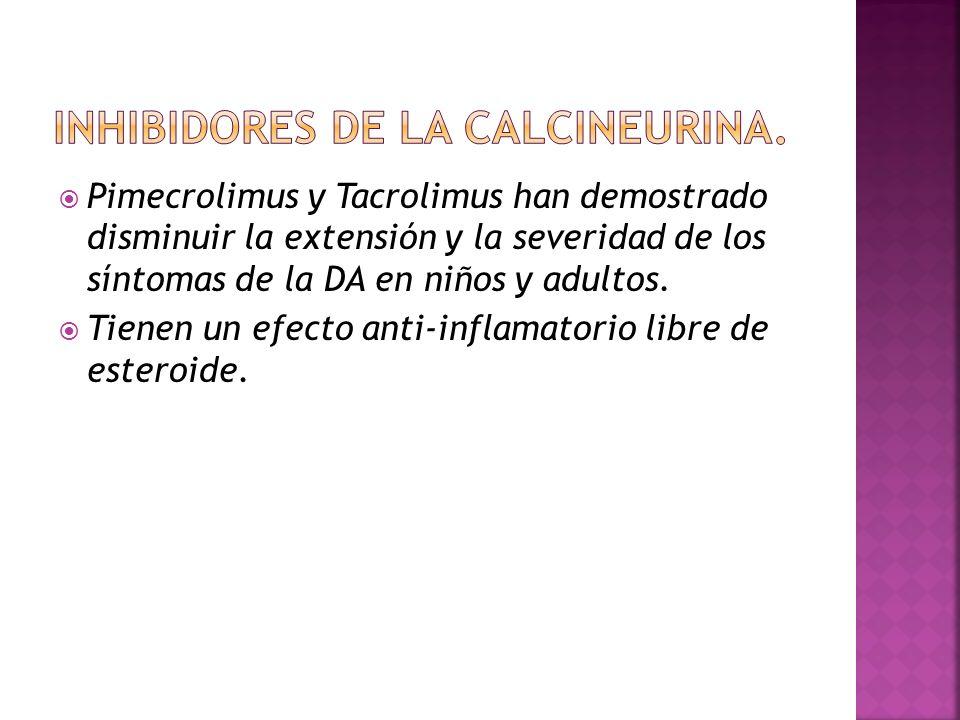 INHIBIDORES DE LA CALCINEURINA.