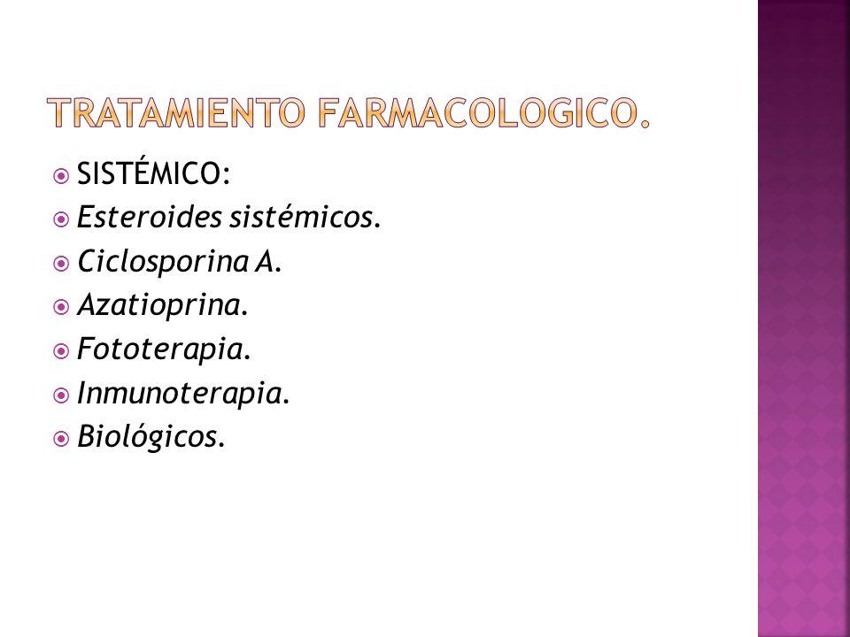 TRATAMIENTO FARMACOLOGICO.
