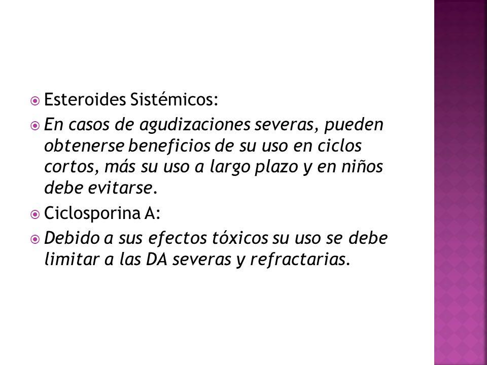 Esteroides Sistémicos:
