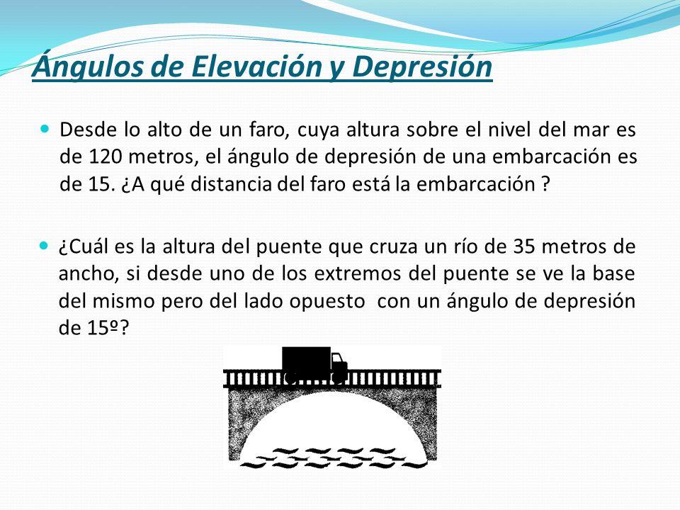Ángulos de Elevación y Depresión