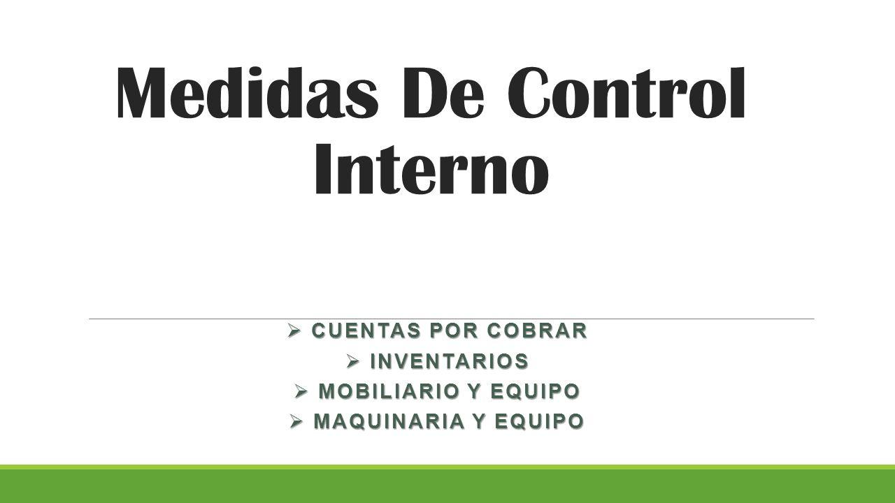 Medidas De Control Interno