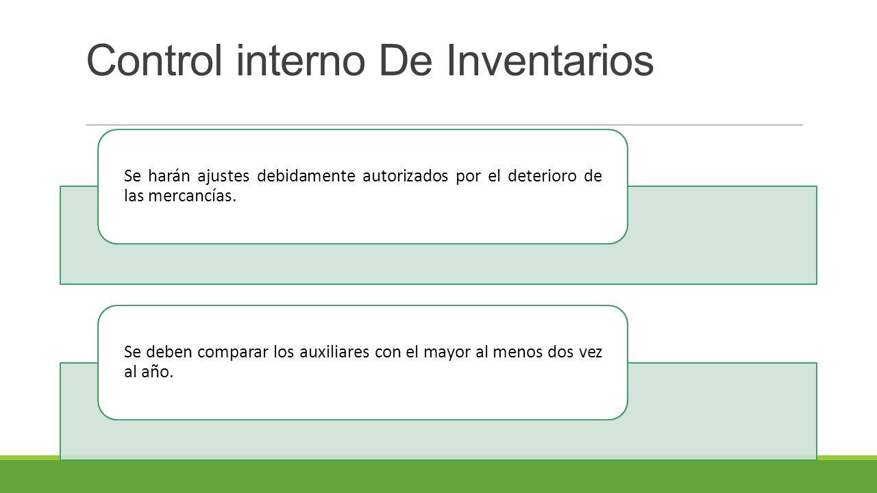 Control interno De Inventarios