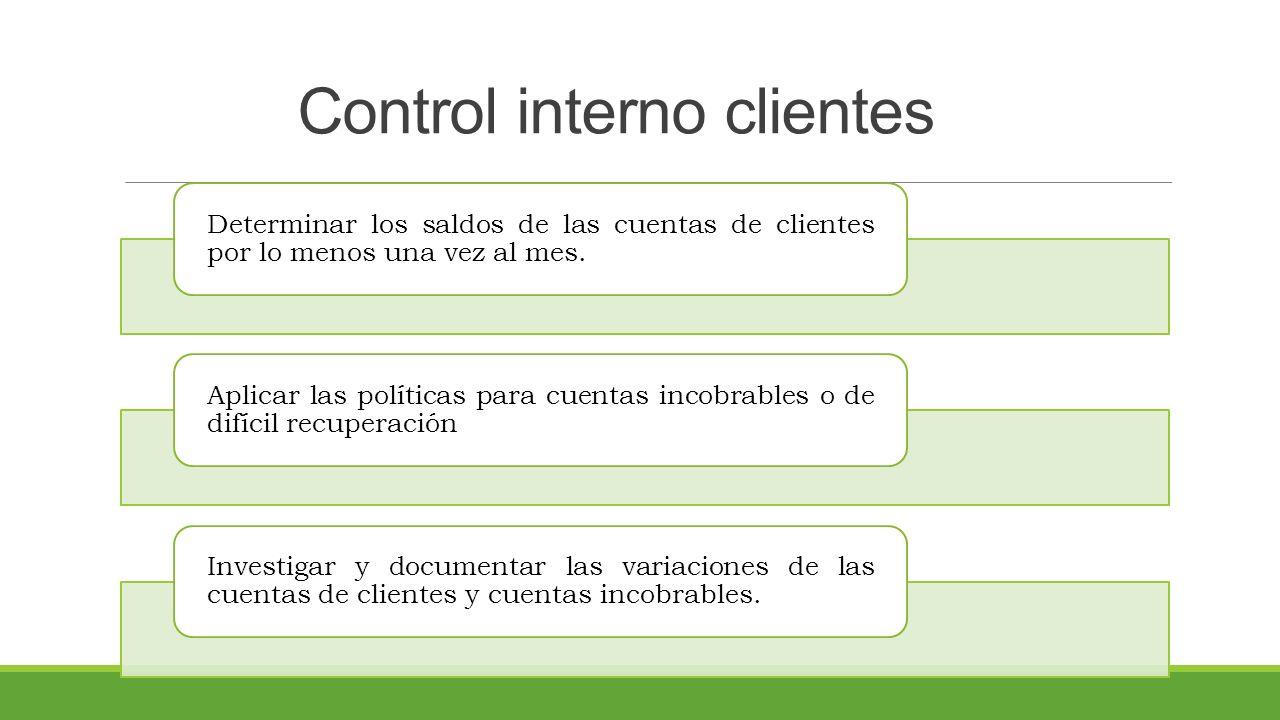 Control interno clientes