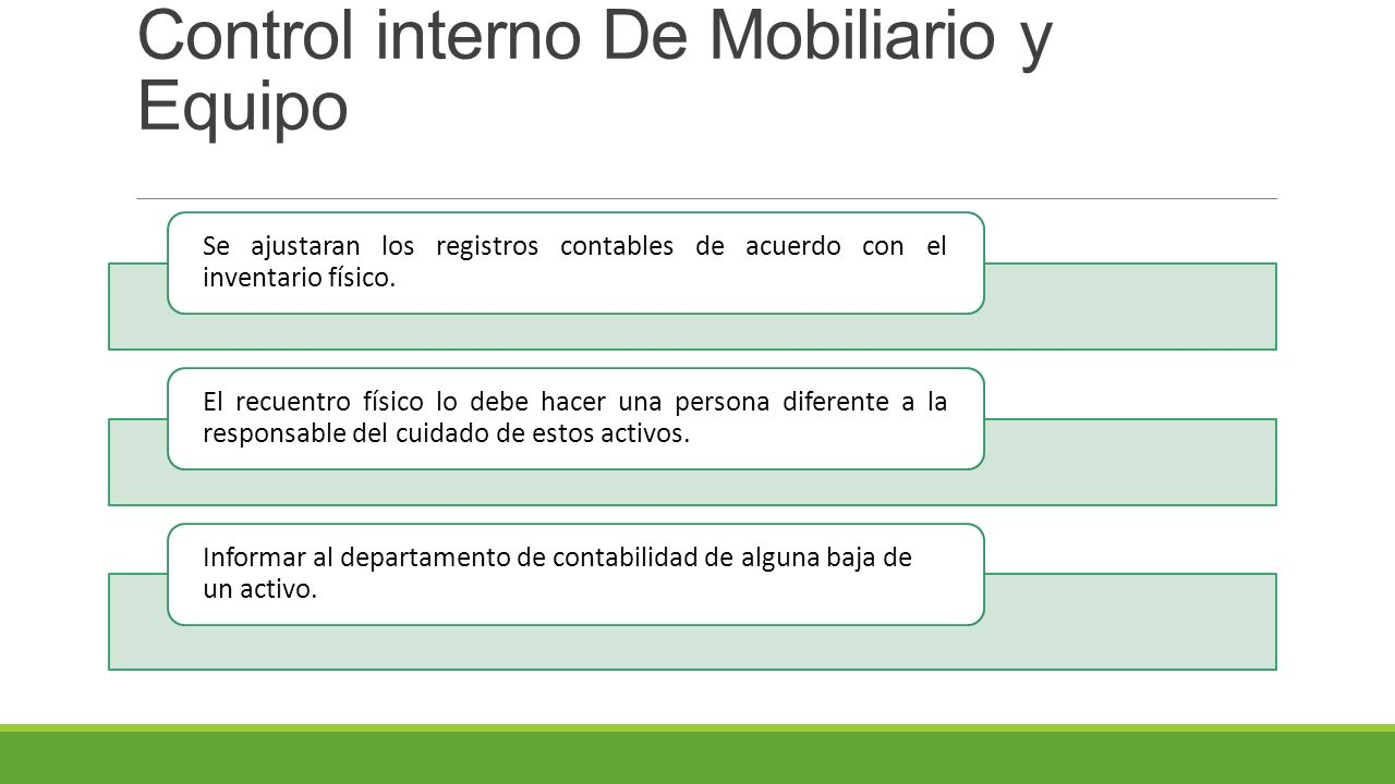 Medidas de control interno ppt video online descargar for Mobiliario y equipo