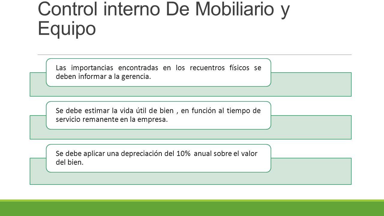 Control interno De Mobiliario y Equipo
