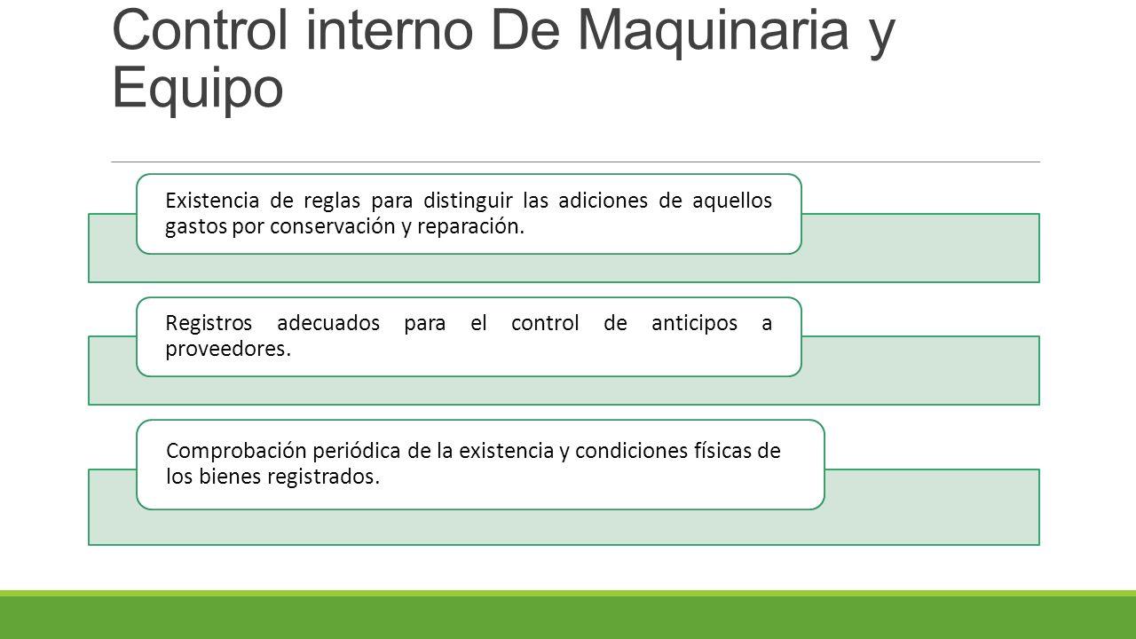 Control interno De Maquinaria y Equipo