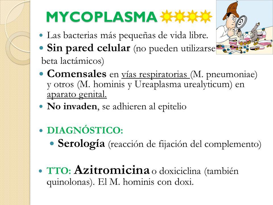 MYCOPLASMA Serología (reacción de fijación del complemento)