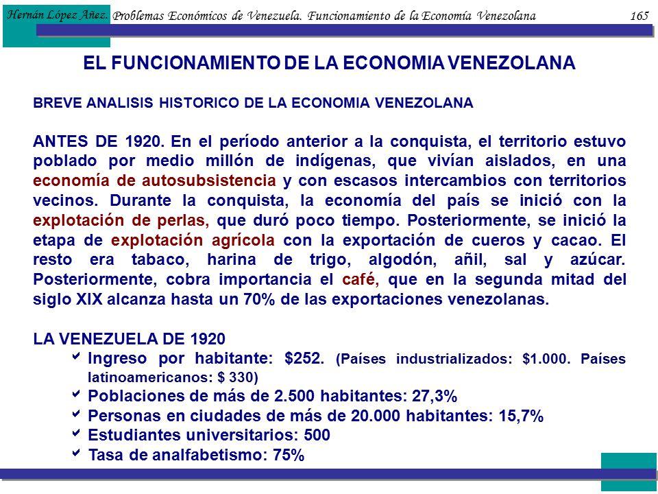 EL FUNCIONAMIENTO DE LA ECONOMIA VENEZOLANA