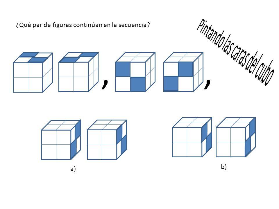 , , ¿Qué par de figuras continúan en la secuencia