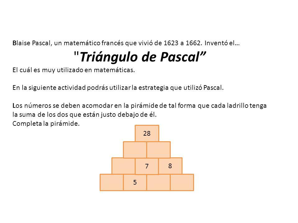 Blaise Pascal, un matemático francés que vivió de 1623 a 1662