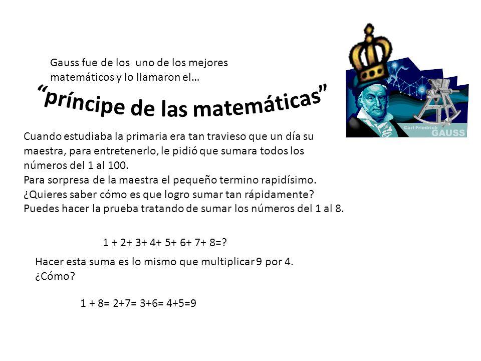 príncipe de las matemáticas