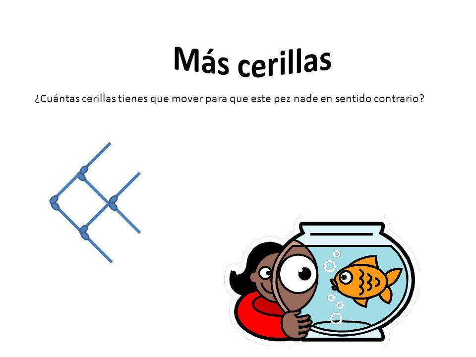 Más cerillas ¿Cuántas cerillas tienes que mover para que este pez nade en sentido contrario