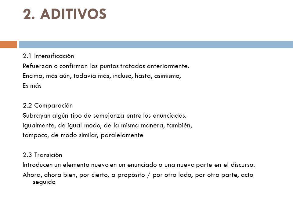 2. ADITIVOS
