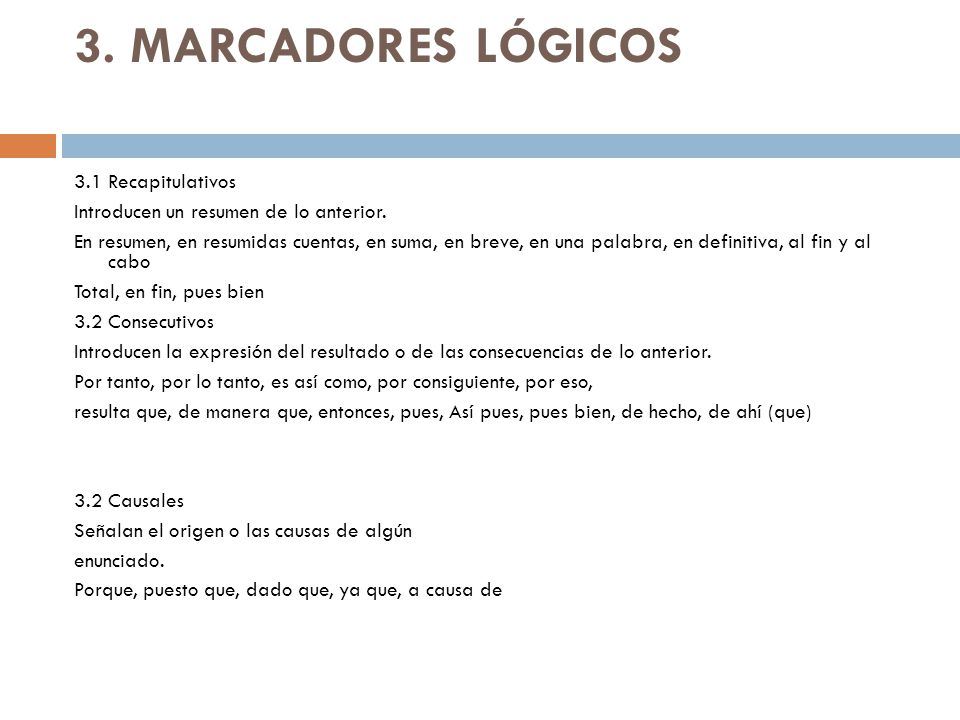 3. MARCADORES LÓGICOS