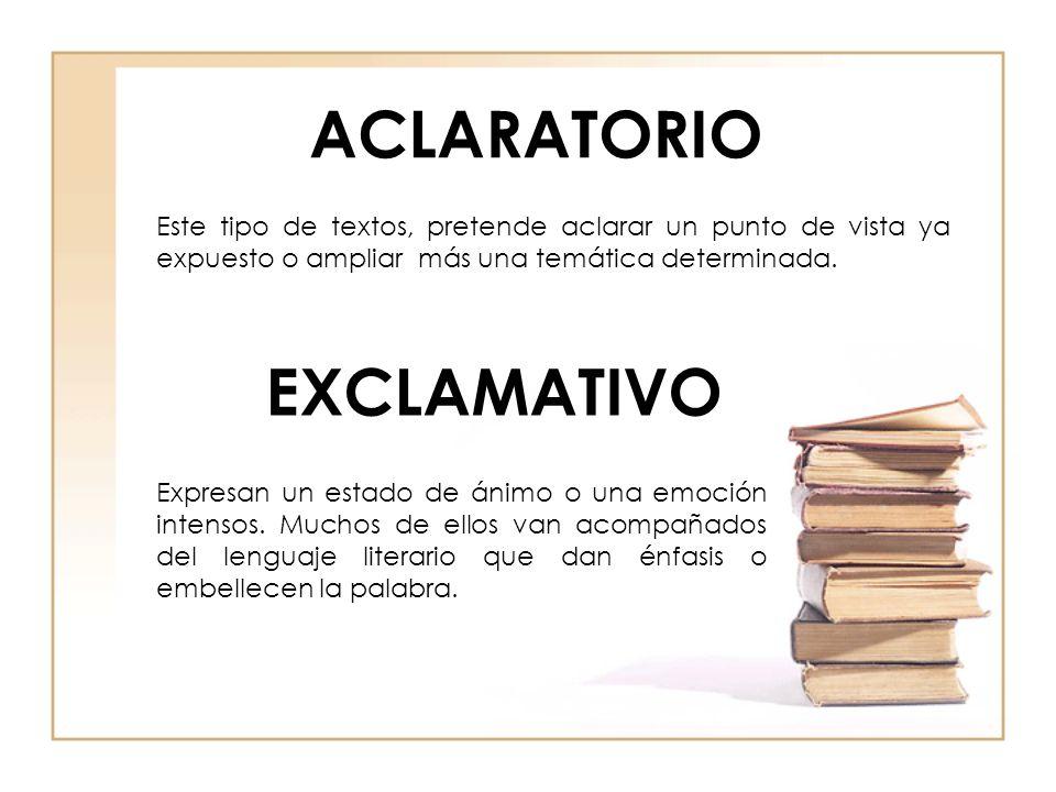 ACLARATORIO EXCLAMATIVO