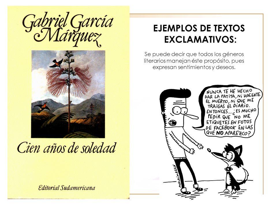 EJEMPLOS DE TEXTOS EXCLAMATIVOS:
