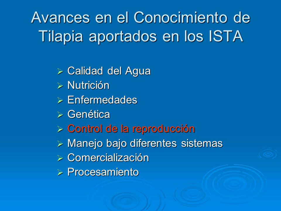 Proceso de hormonizaci n de cr as de tilapia an lisis y for Reproduccion de tilapia en estanque