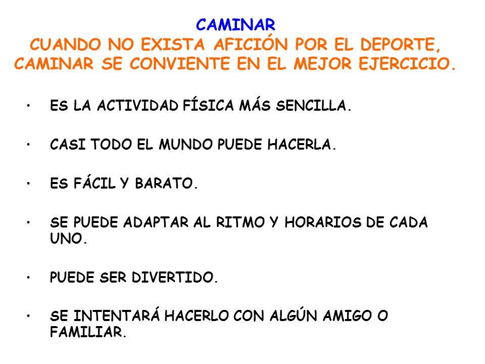 CAMINAR CUANDO NO EXISTA AFICIÓN POR EL DEPORTE, CAMINAR SE CONVIENTE EN EL MEJOR EJERCICIO.