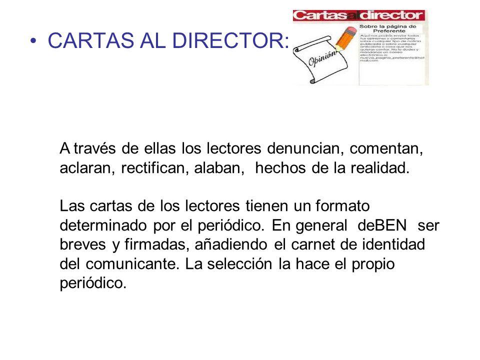 CARTAS AL DIRECTOR: