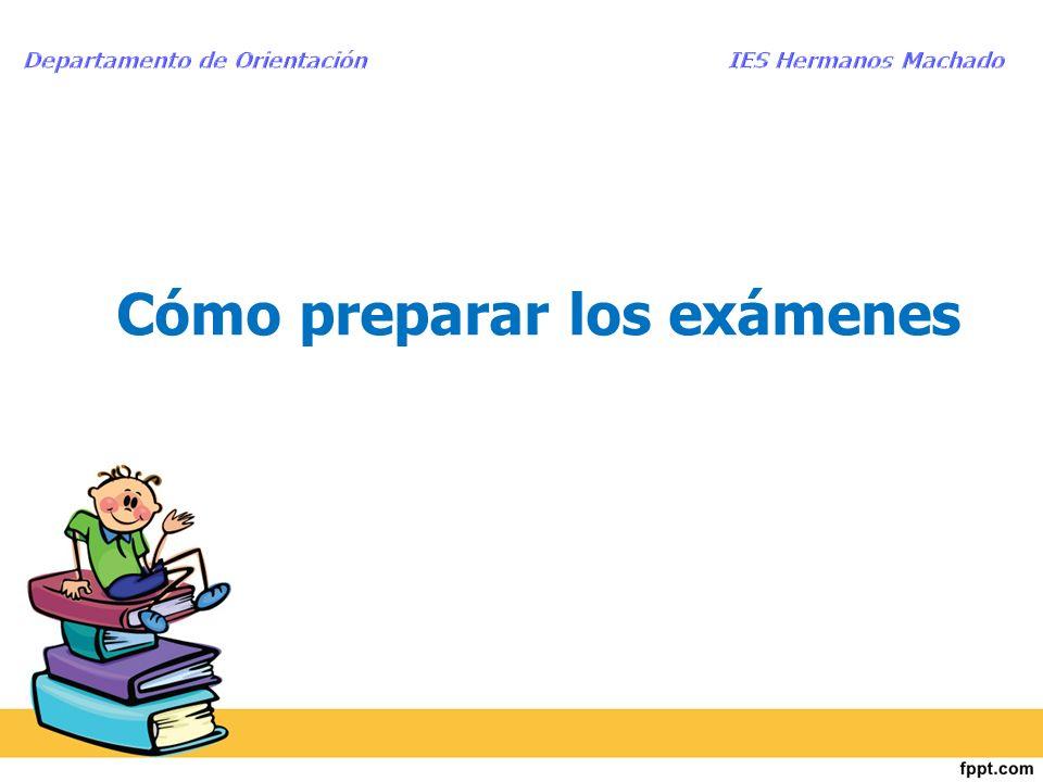 Cómo preparar los exámenes