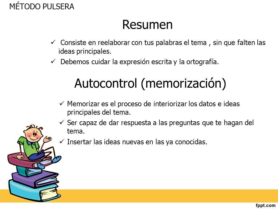 Autocontrol (memorización)
