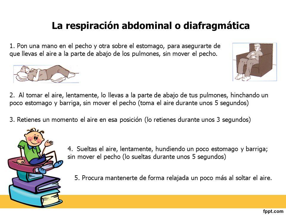 La respiración abdominal o diafragmática