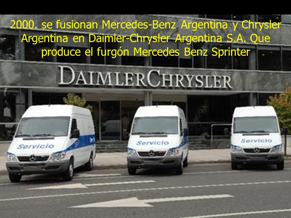 Hitos del automovil en argentina ppt descargar for Mercedes benz daimler chrysler