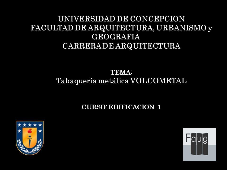 Universidad de concepcion ppt descargar for Cursos facultad de arquitectura