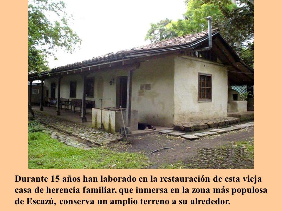 durante aos han laborado en la restauracin de esta vieja casa de herencia familiar que inmersa en la zona ms populosa de escaz