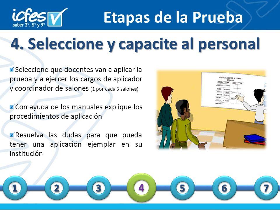 4. Seleccione y capacite al personal