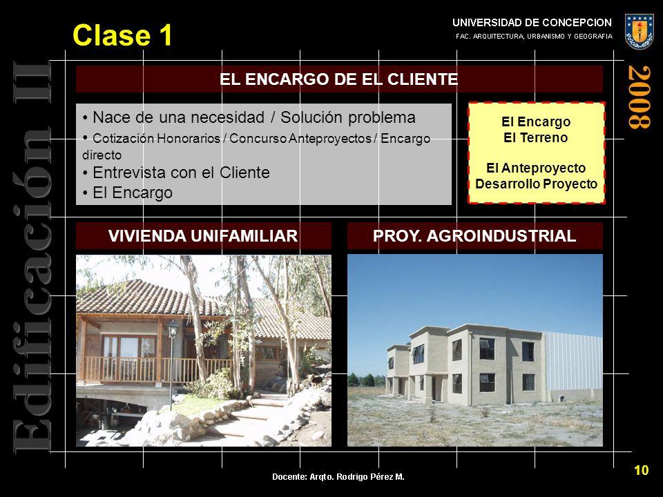 Edificacion ii del proyecto a la obra clase ppt video for Honorarios arquitecto vivienda unifamiliar