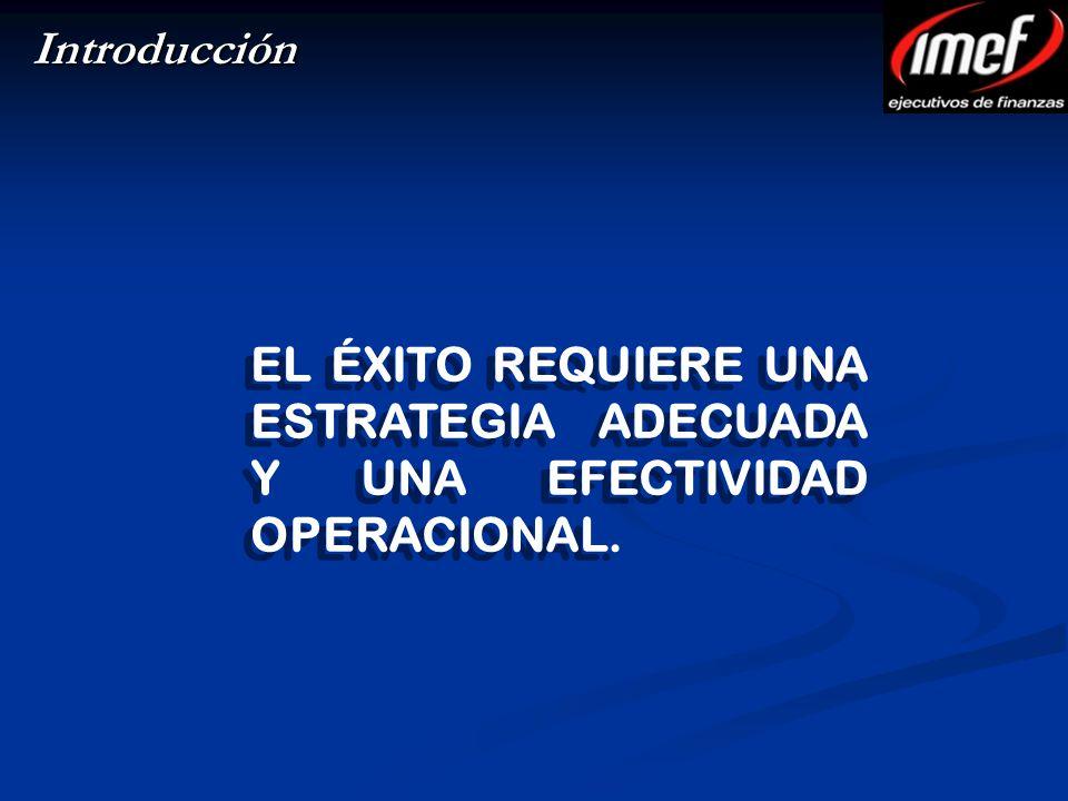 Introducción EL ÉXITO REQUIERE UNA ESTRATEGIA ADECUADA Y UNA EFECTIVIDAD OPERACIONAL.