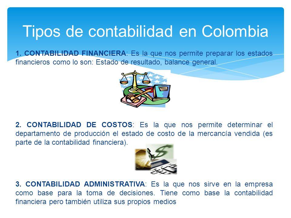Tipos de contabilidad en Colombia